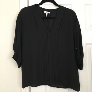Joie black silk blouse top. Size small S